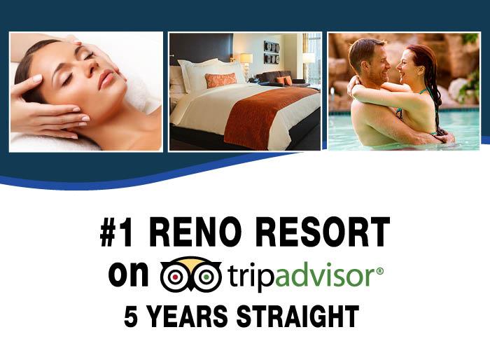 #1 Reno Resort on TripAdvisor 5 Years Straight