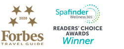 Forbes 2020 Travel Guide Recommended Logo and Spa Finder Reader's Choice Awards Winner