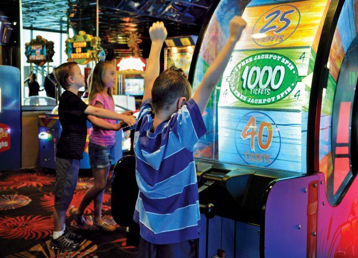 Kids playing games at Atlantis Fun Center