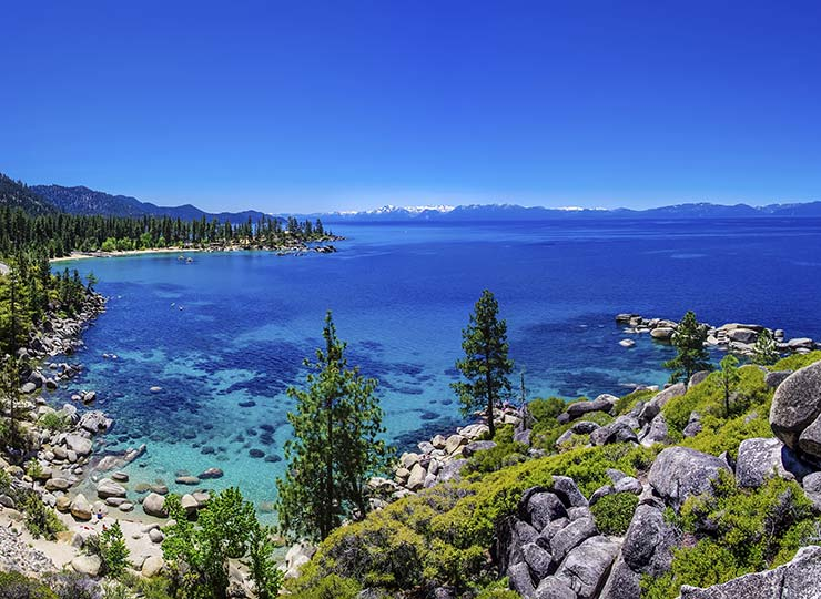 Lake Tahoe shoreline and cove