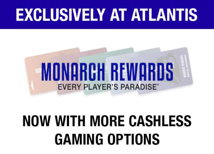 Cashless Gaming Options at Atlantis
