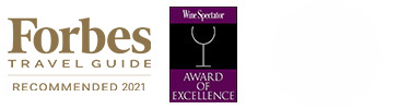 Forbes Travel Guide Recommended 2020 Logo and Wine Spectator Award of Excellence Logo